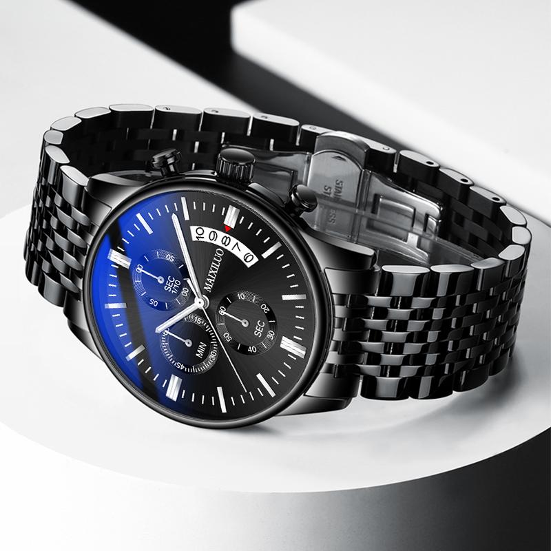 男子覇気腕時計2021新型スイス男子学生ファッション夜光防水全自動機械電子運動