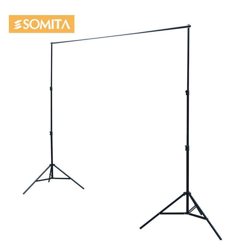 新品SOMITA摄影背景布架子便携伸缩背景布架摄影灯影棚架摄影支架