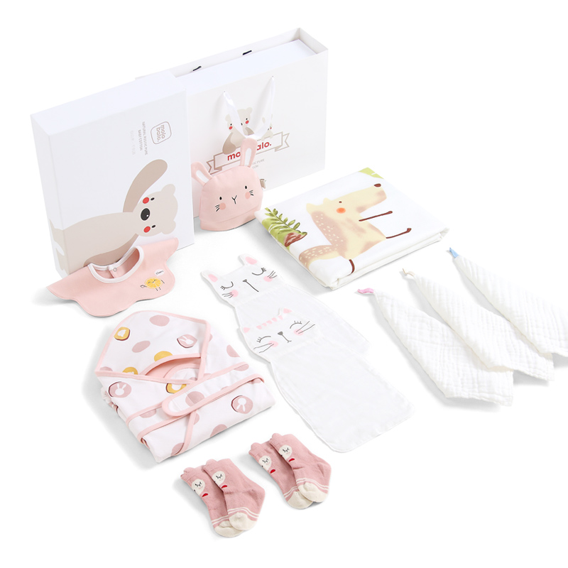 Newborn Baby Products Daquan Newborn Creative Gifts High-end Full Moon Hundred Days Gifts Baby Gift Box Big Gift Pack