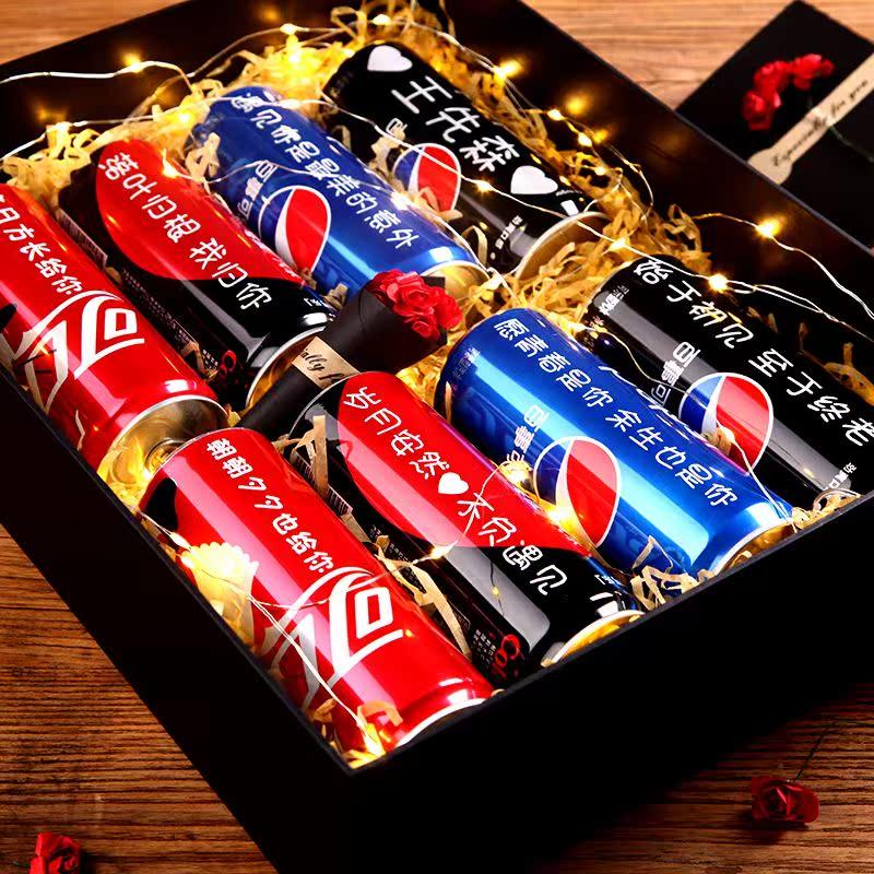 可口可乐定制易拉罐网红抖音同款创意刻字ins超火的生日礼物男生(非品牌)