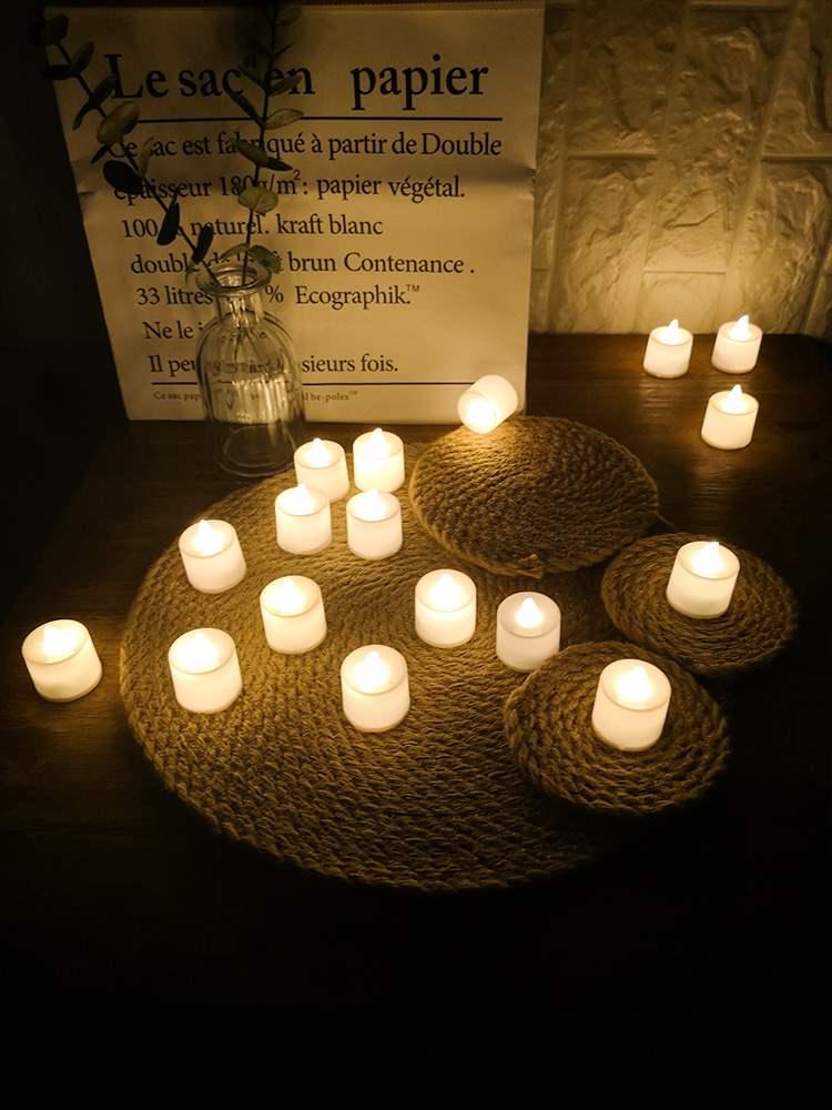 发光浪漫室内小蜡烛ld电子灯创意求婚场景布置生日网红道具