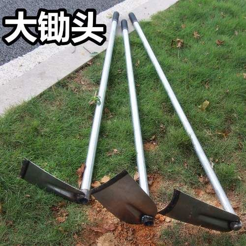 Long handle hoe to plant vegetables, plow the land to plant flowers, agricultural harrow to open up wasteland, loosen soil and weed, gardening supplies, farm tools and gardening tools