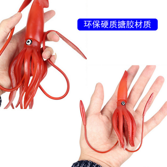 Simulation model of sperm whale hunting King squid toy