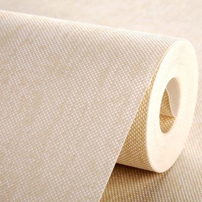 加厚纯色素色颗粒无纺布白色壁纸卧室客厅走NBK(家装主材) 5091