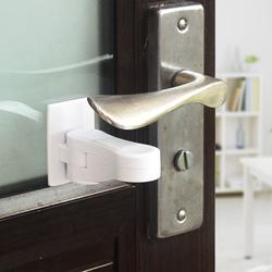卡布熊防小孩儿童开门把手锁防猫防宠物房门锁防反锁宝宝安全锁扣