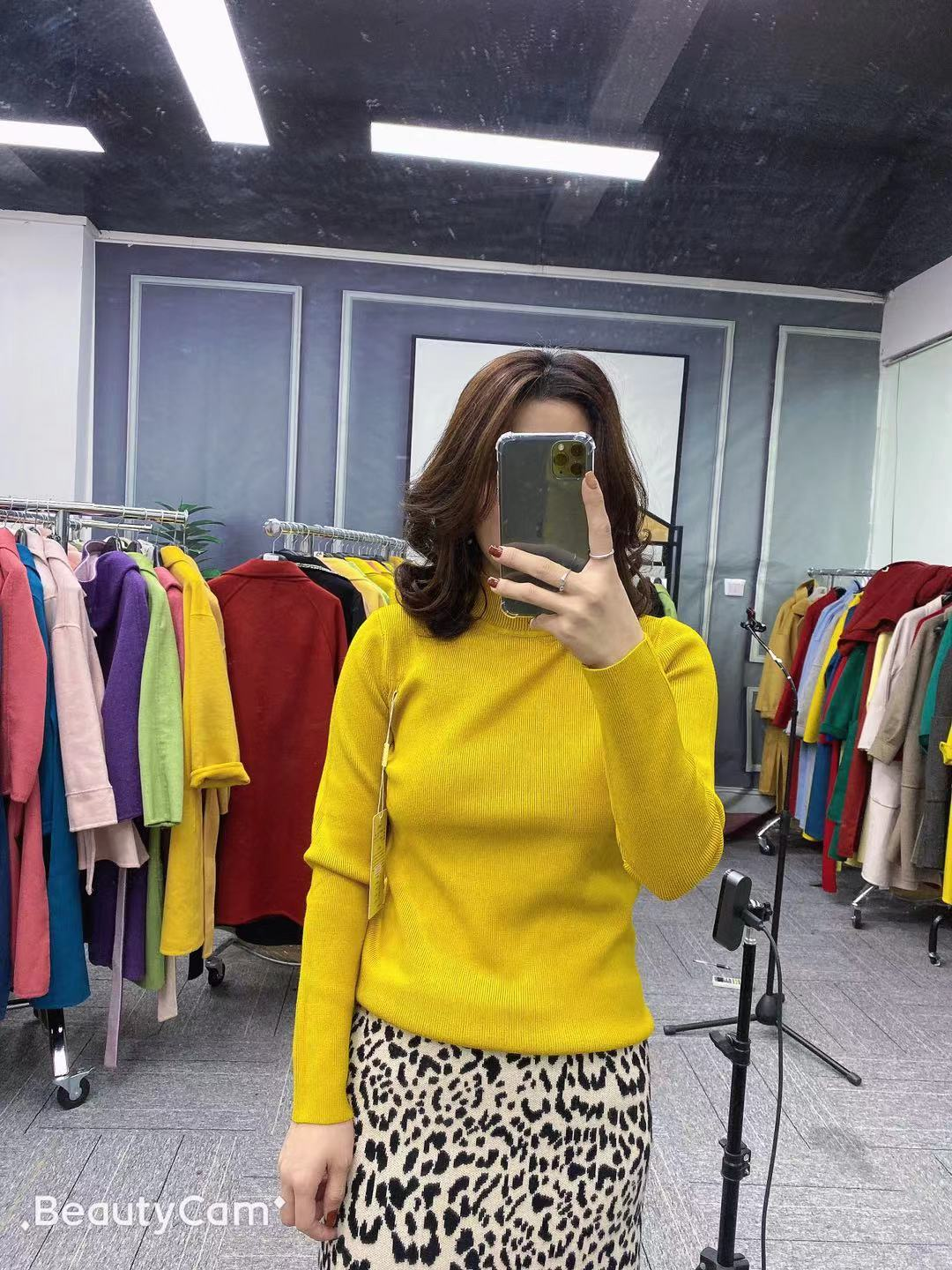 High proportion of imported woolen knitwear pit top Pullover