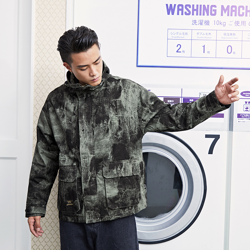 Wex camouflage work jacket mens Korean fashion mens cool casual jacket autumn clothing new mens clothing in 2019