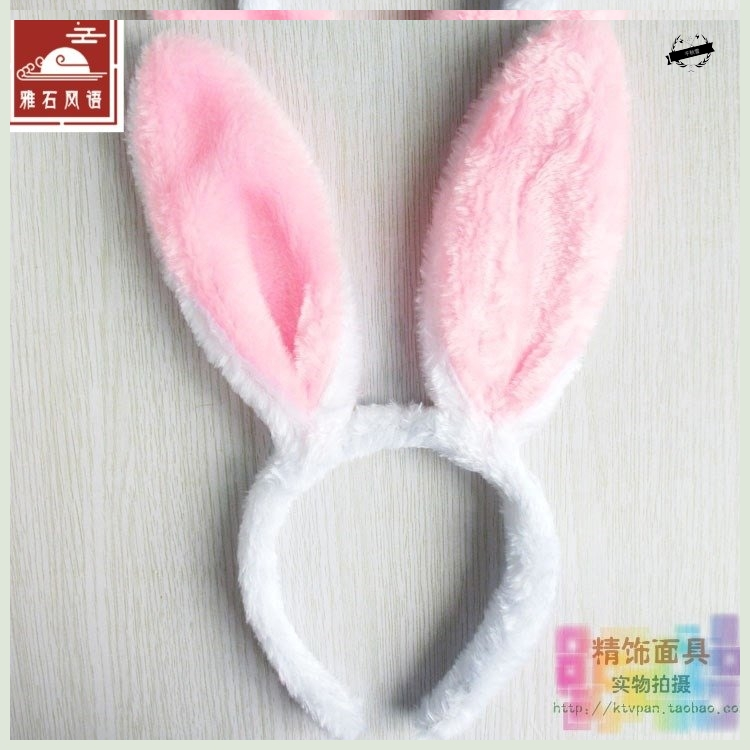 [Ya] cos rabbit show headdress headband hairpin rabbit girl ear hair band little white rabbit animal party dress
