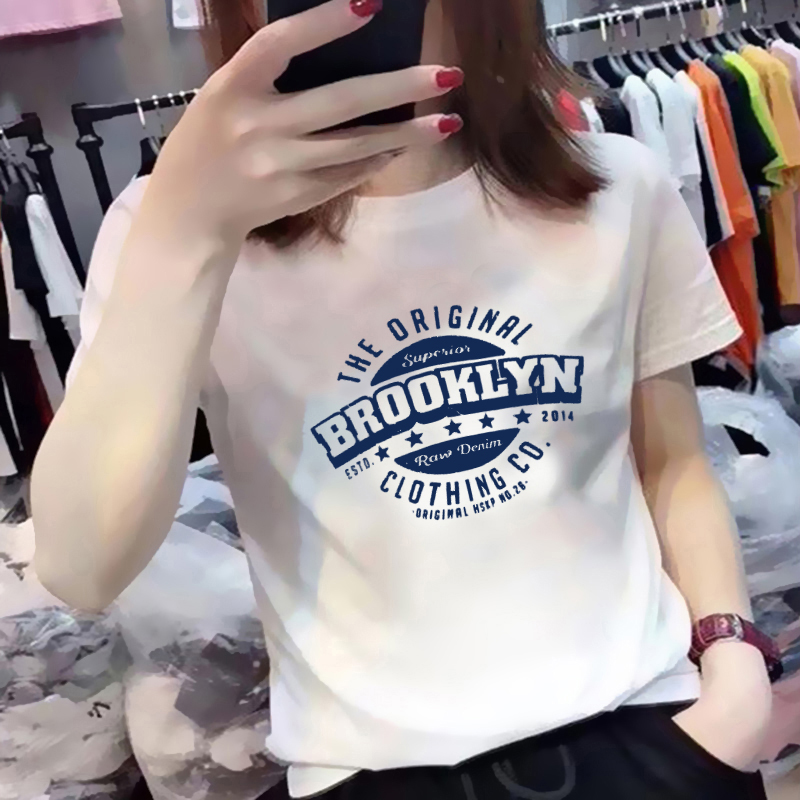 欧洲站纯棉短袖t恤女修身2021年新款夏装韩版时尚洋气百搭上衣潮