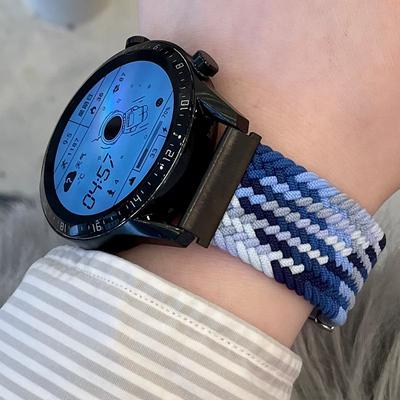 适用华为手表watch3/gt/gt2/2pro/3pro表带手工编织荣耀magic2dream表带ecg版gspro腕带男雅致款女款运动46mm