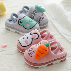 儿童棉拖鞋冬季新款卡通室内家用女童可爱防滑男童保暖宝宝家居鞋
