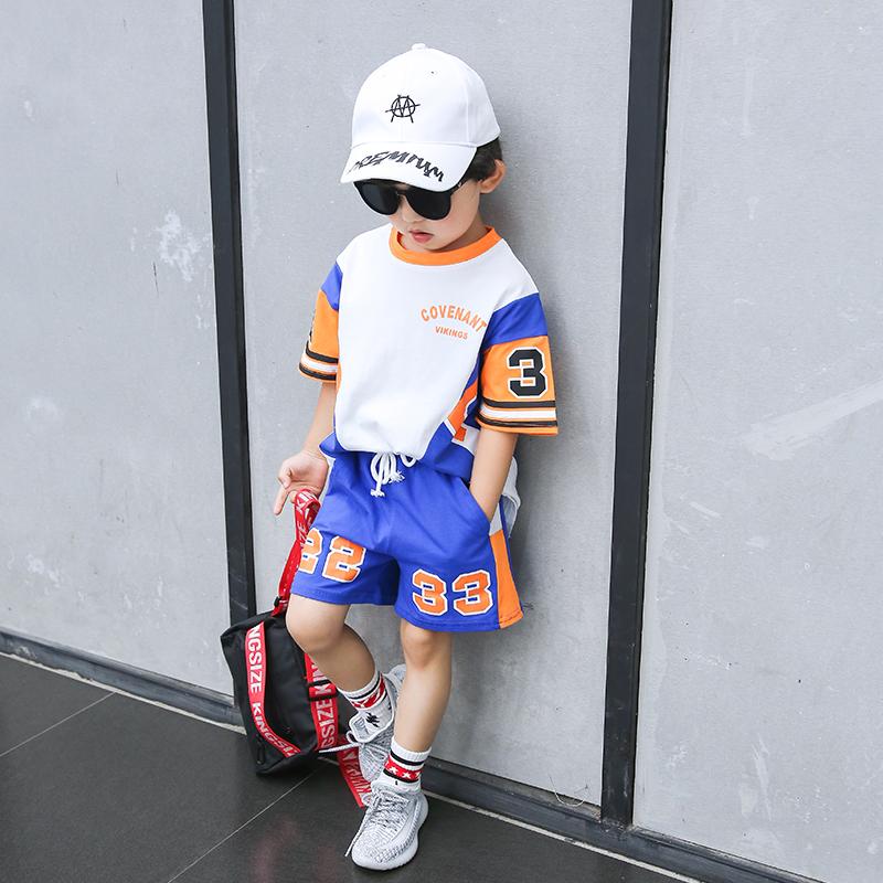 男童篮球服套装夏款儿童运动3洋气4时尚7小童6夏装5岁8童装帅气潮限3000张券
