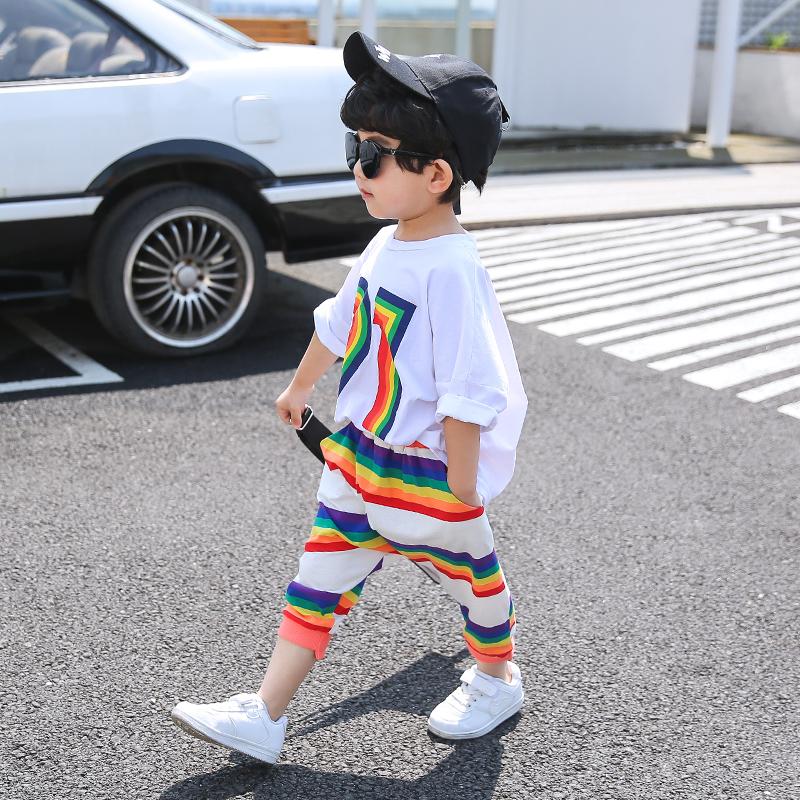 男童套装夏装2020新款韩版洋气童装儿童夏季男孩小童帅气童装潮装