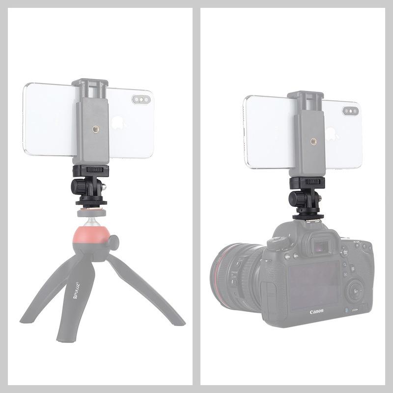 規格品のホットブーツの携帯は一眼レフカメラの通用する小さい雲台の外でつながって横柄に携帯電話のモニターをたたいて取ります。