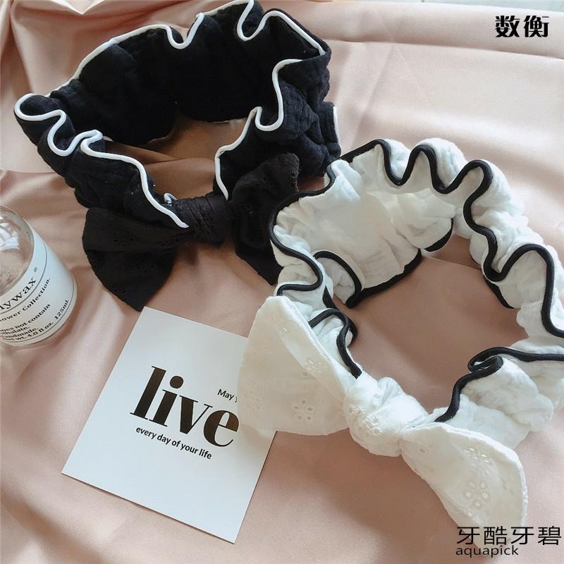 Korean New Summer Cotton bow, face wash, hair mask, hair mask, hair band, hair band.