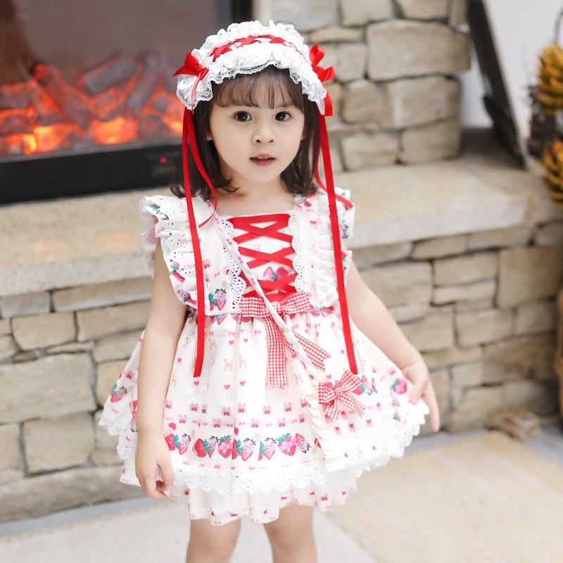 女の子のロリータのワンピース夏の女の子のlolit蓬のスカートの赤ちゃんの誕生日の洋気の王女のスカート