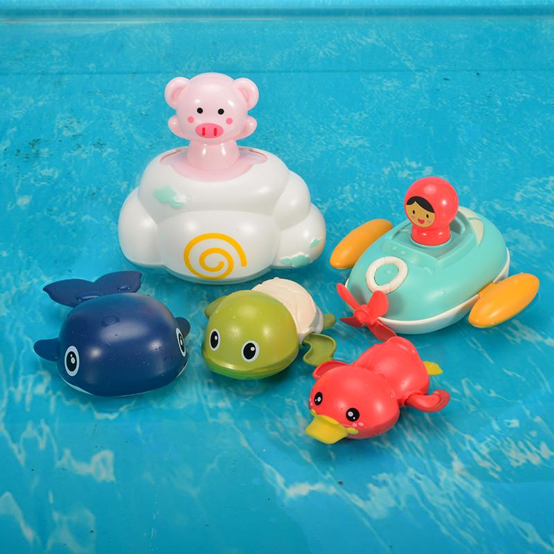 宝宝洗澡玩具戏水小乌龟婴儿游泳喷水儿童沐浴男孩女孩玩具抖音款