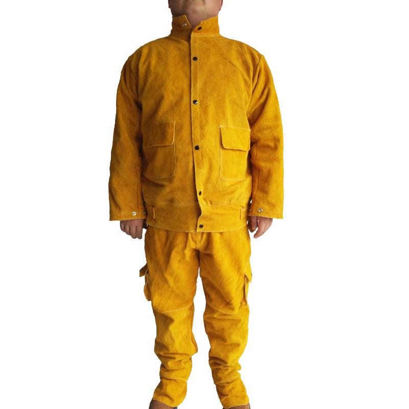 皮电焊防护服氩弧焊工作服焊工耐高温隔热防烫防电焊辐射皮衣