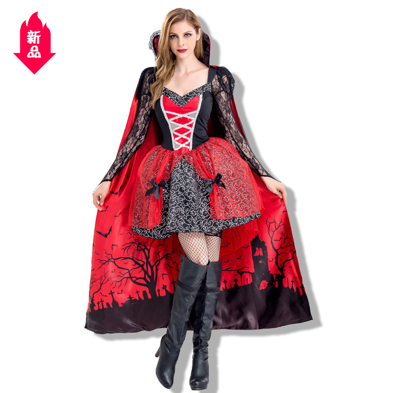 Halloween role play Vampire Queen Costume Party stage performance costume Devil Costume NEW