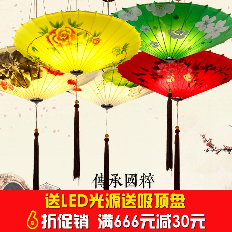 新中式雨伞小吊灯鸟笼创意灯笼复古中国风火锅店餐厅饭店异形灯笼