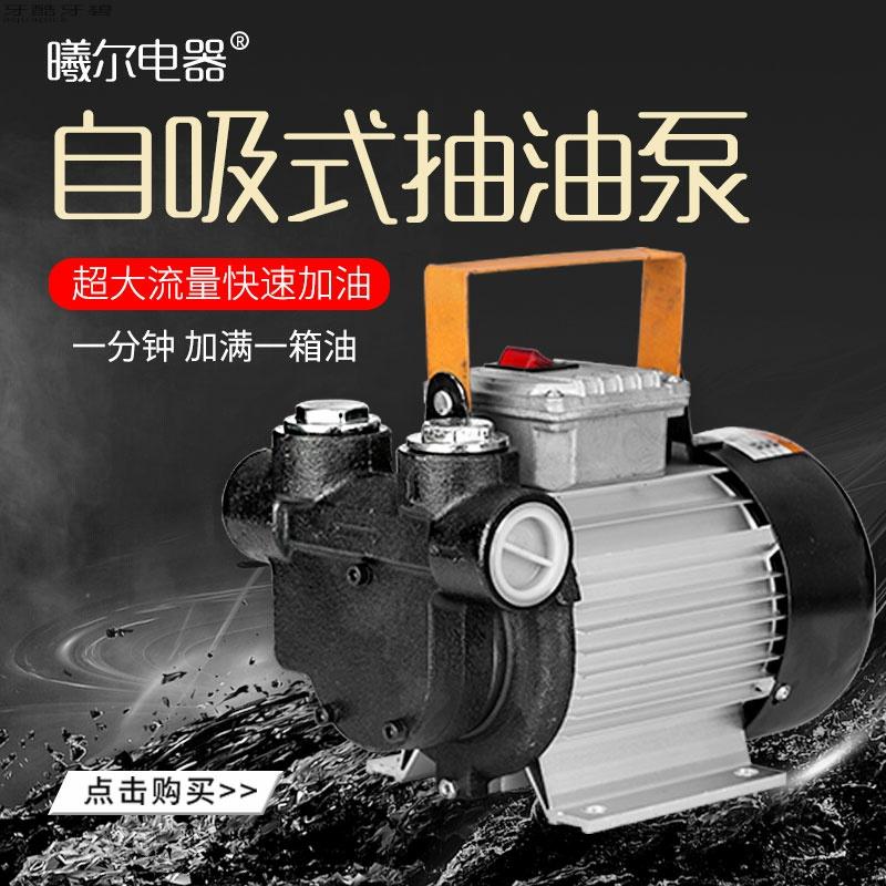 电动抽油泵12V24V220V大功率550W柴油泵大流量自吸泵齿轮泵加油机