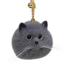 Cat tameng custom bag hanging creative Plush high-end net red tide ins super hot kitten key chain hanging