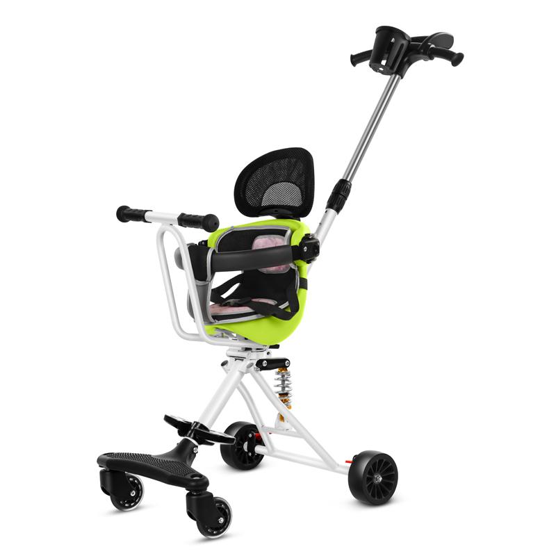 遛溜娃神器1-3-12岁儿童轻便折叠减震小宝宝四轮推车带娃出门旅行需要用券