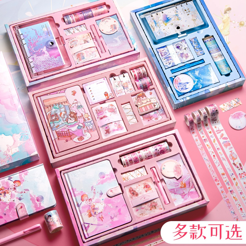 帳簿の帳簿の盲目の箱の小さい女の子のきれいな女の子の贈り物の箱のスーツの高級な紫色の少女の心の爆発する日記帳