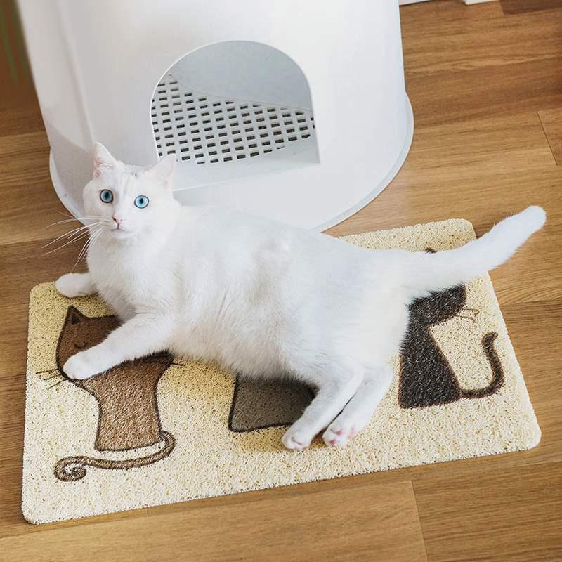 专用脚垫脚垫宠物猫砂垫猫蹭脚猫砂蹭猫砂盆猫厕所脚垫猫脚垫除灰