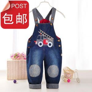 男童牛仔1-2岁儿童背带裤韩版夏天童装夏装婴幼儿男r宝宝宝宝吊带