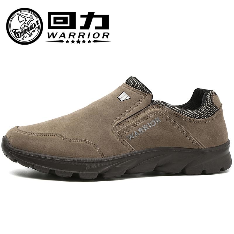 【一脚蹬真皮】回力男鞋休闲鞋轻便防滑一脚蹬开车透气运动豆豆鞋