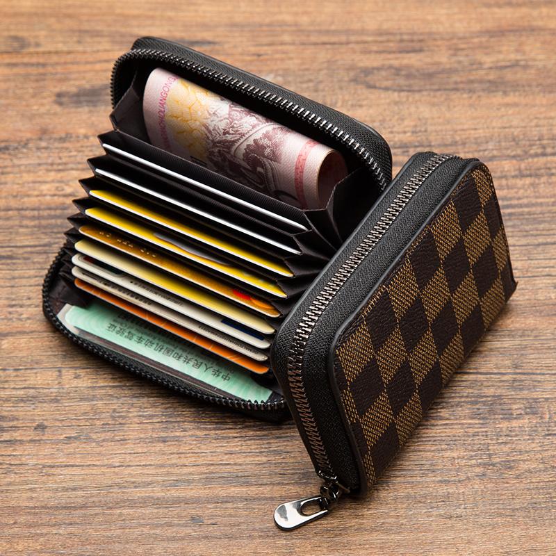 防消磁卡包男大容量多卡位银行卡套精致高档小巧驾驶证钱包女超薄