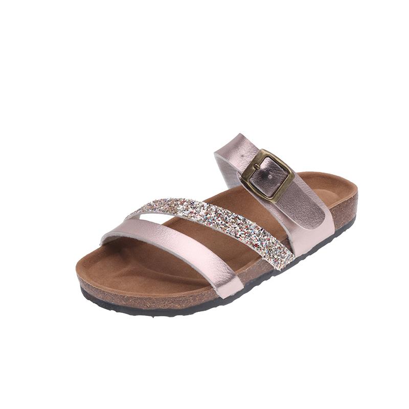 Trend sandals large herringbone slippers for women wear antiskid beach sandals for Korean lovers, cork slippers for men in summer