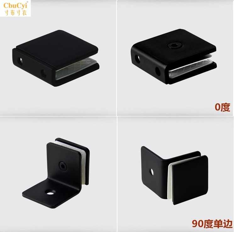 304新款中国大陆广东省黑色不锈钢固定夹玻璃门码浴室连接亮光