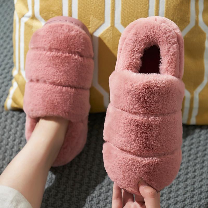 棉拖鞋家居包跟女冬季室内居家情侣毛绒家用厚底棉鞋男月子鞋秋冬