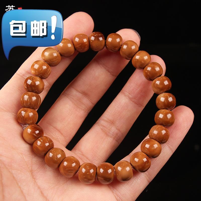 数珠を手で刺し連ねて式の仏珠を隠します2男女のクックの桶の玉のチェーンの古いタイプの単独の円の金の逸品の菩提子の文が配合します