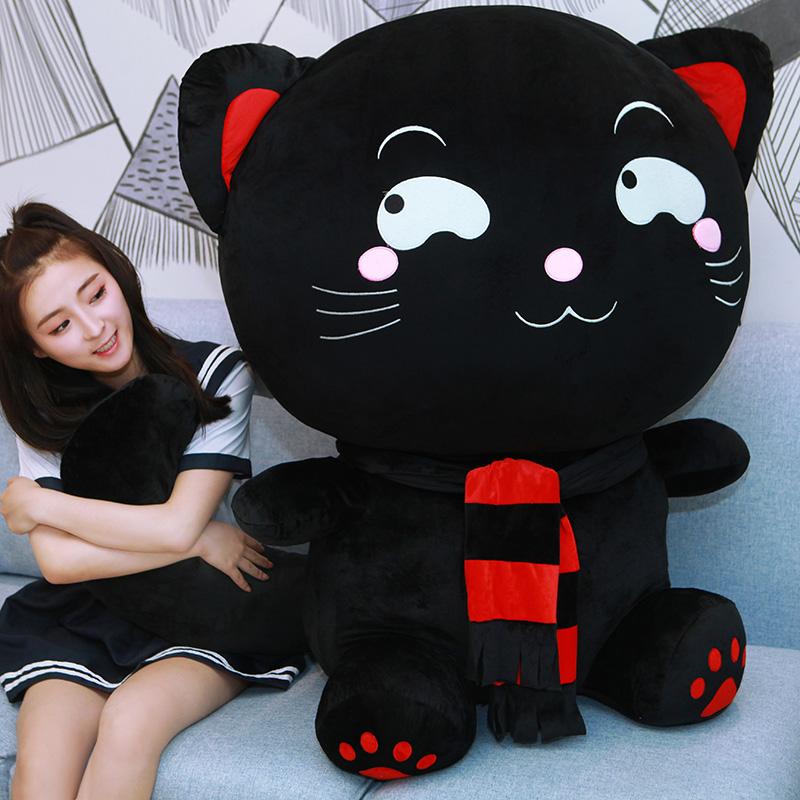 抱枕超萌毛绒玩具大号女孩时尚睡觉猫咪玩偶公仔抱着可爱的布娃娃
