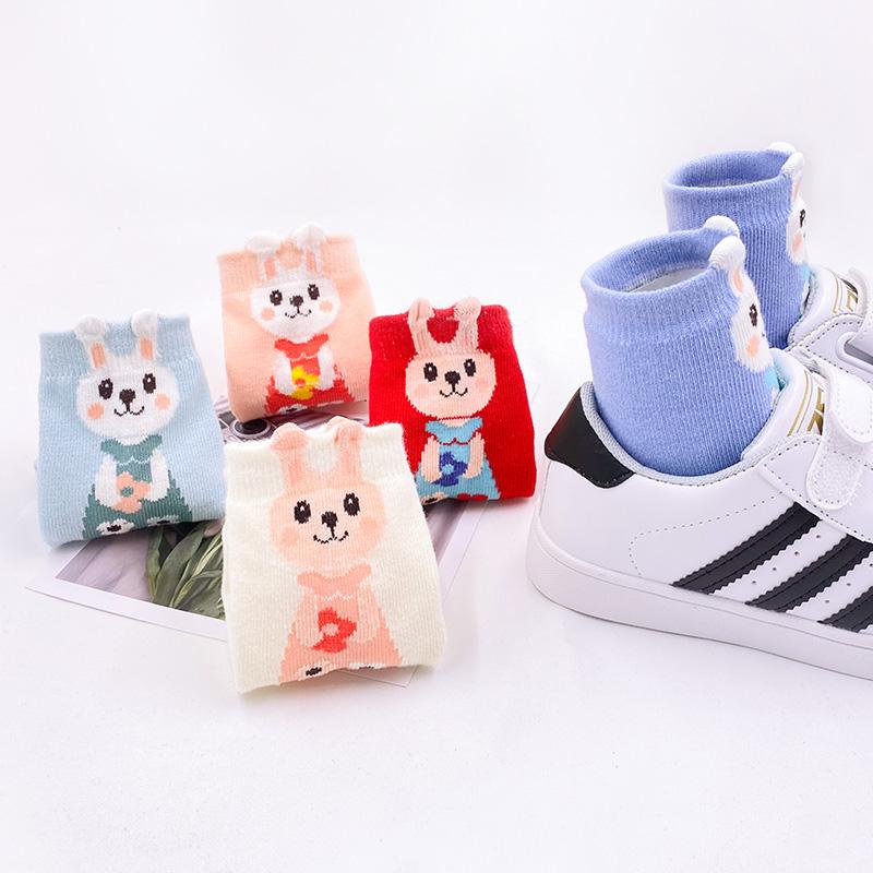 儿童袜子春秋冬男女童纯棉袜子中筒袜儿童地板袜婴儿袜宝宝袜子