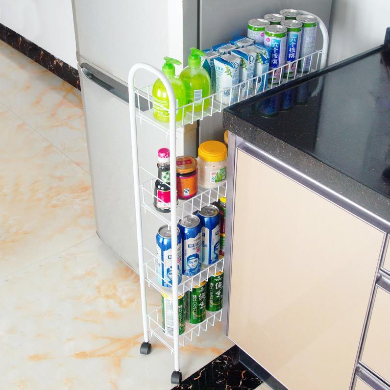 置物收纳超薄落地式多层架厨房超窄柜架子储物调料置地卫生间,可领取1元天猫优惠券