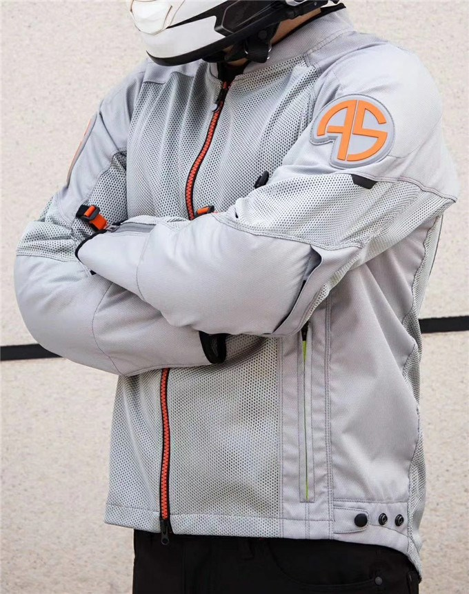 High end alien snail summer mesh breathable motorcycle riding suit mens anti fall Knight Motorcycle Jacket