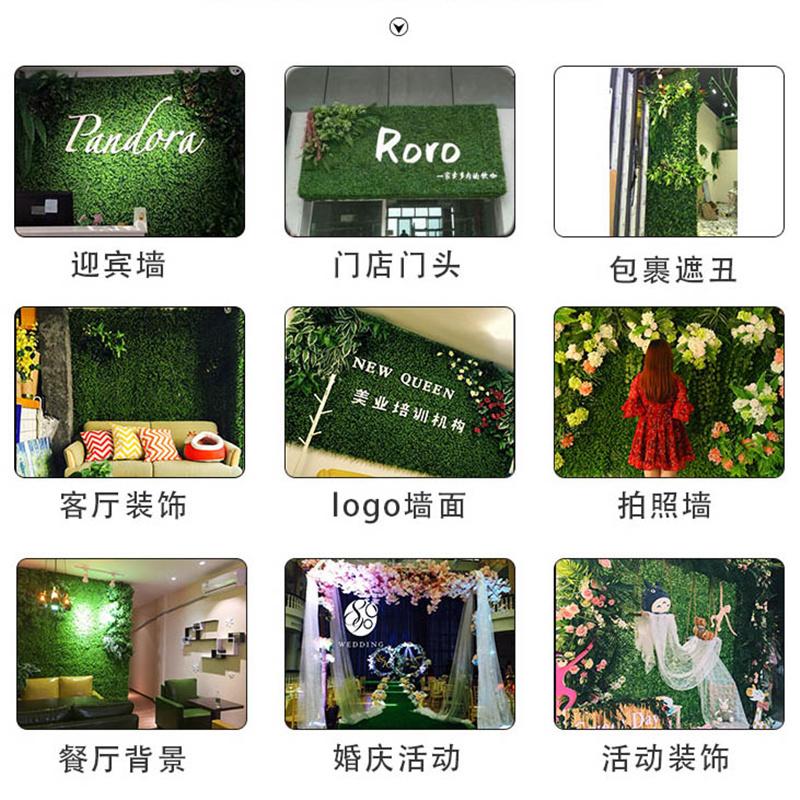 绿植墙仿真植物墙绿植花墙人工门头墙面草皮客厅阳台装饰绿化室内
