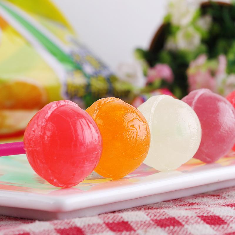 真知棒棒棒糖桶装什锦水果味108支创意儿童节喜糖糖果零食
