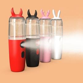 可爱学生脸部保湿补水仪美容仪蒸脸充电便携式纳米喷雾器卡通