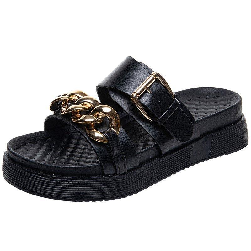 网红爆款凉鞋2021好看舒适凉鞋新款凉拖鞋新品时尚夏天网红