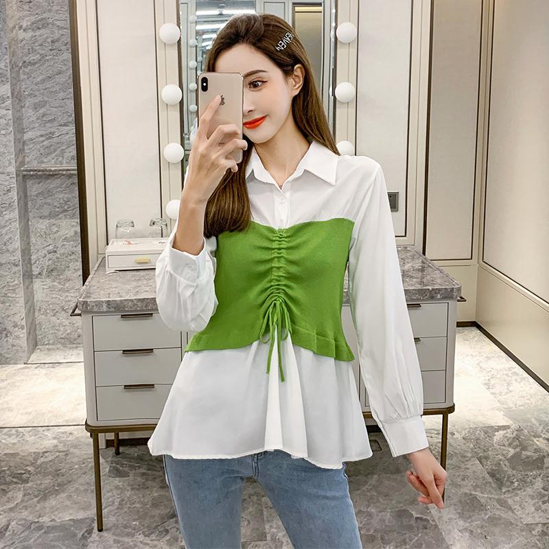 韩版轻熟修身显瘦收腰女气质衬衫满158.00元可用108.1元优惠券