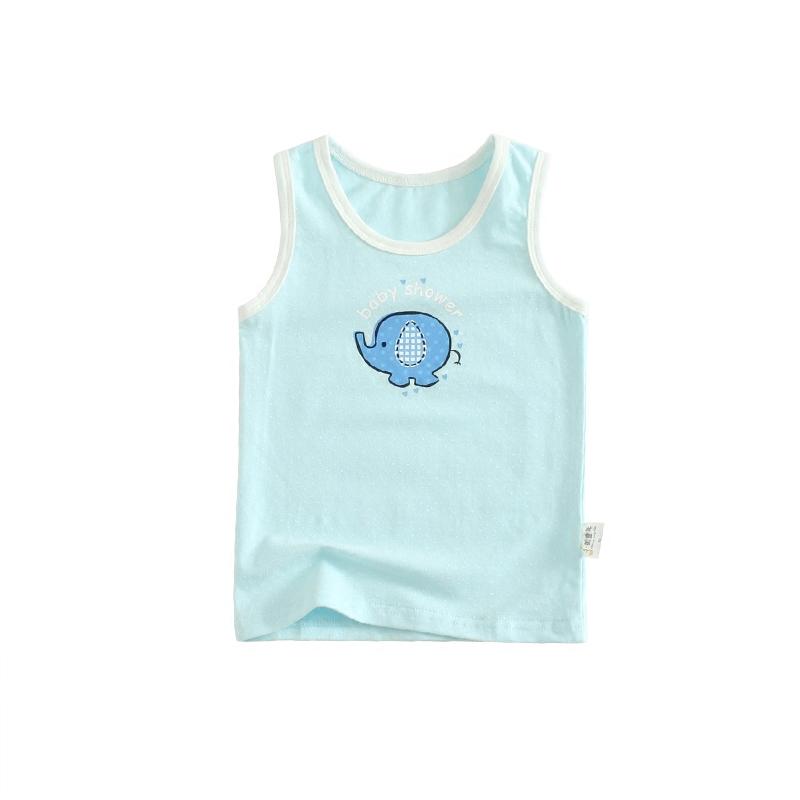 童装家居t恤宝宝无袖小背心护肚舒适内衣夏季柔软凉快卡通男童2岁