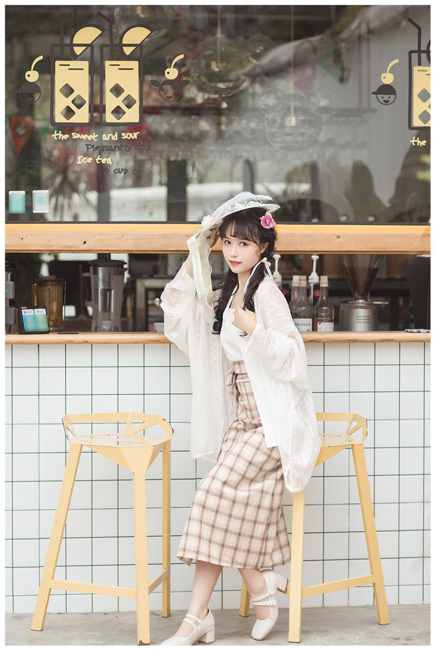 学生平价汉服朝歌集 原创飞机袖 宋制旋裙两片裙 珍珠少女 日常平