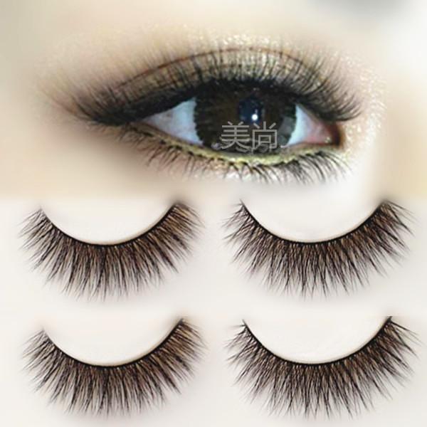 3D立体手工仿真自然纤长假睫毛 浓密交叉仿真舞台妆新娘妆眼睫毛