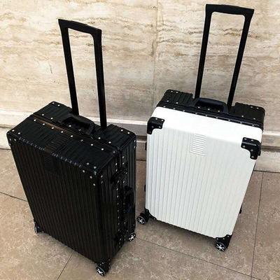 韩版行李箱女拉杆箱男学生旅行箱万向轮皮箱子大容量密码箱铝框款