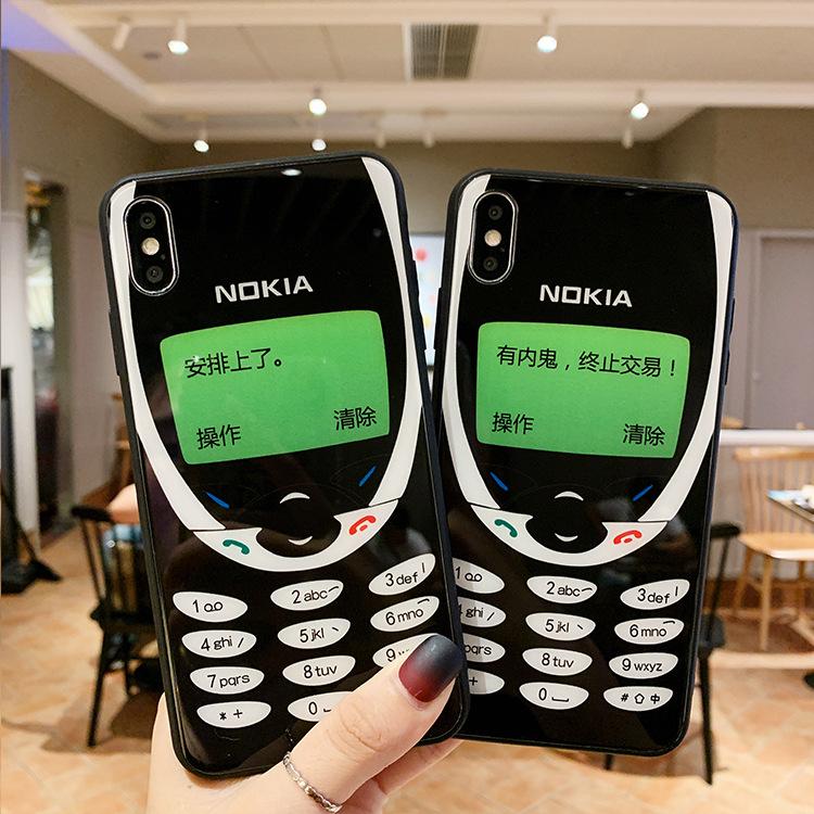 适用于新款iphoneX手机壳个性苹果7/XR洛基亚保护套防摔玻璃壳潮
